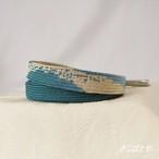 正絹 深藍のぼかしの平組の帯締め