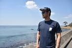 The Baseball Surfer ポケット付きTシャツ【ネイビー】