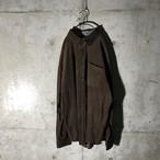 [used]dark brown corduroy shirt
