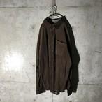 [used]dark brown corduroy shirt