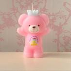 くまちゃんキャンドル/pink