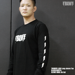 Thunder logo long sleeve Tee BLACKxWHITE