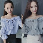Off The Shoulder Tops Bow 627