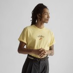 Embroidered Winged Foot Logo Tee(Yellow)