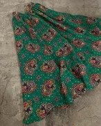 vintage paisley skirt - green -