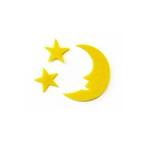 アイロン接着フェルトアップリケ(月と星)