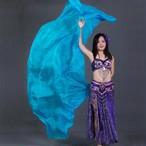 100%シルク カスタマイズベリーダンスベール手作り染色スカーフショール勾配 200 センチメートル 250 センチメートル 270 センチメートル子供のための大人ダンスアクセサリー