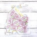 【ちょこまみぃ】折り返し型立体布マスク(冷感・透かし)・レディースサイズ/マスク