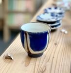 『ノモ陶器製作所』湯呑  コバルトブルー ノモ陶器製作所