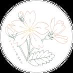 花とメンバー缶バッチ