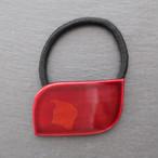 飛騨春慶塗 ヘアゴム 角丸 紅×箔 (H004)