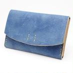 カードケース 猪革 藍染 cabi-001