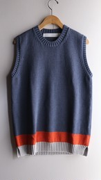ASEEDONCLOUD/アシードンクラウド Knit Vest / ニットベスト blue #201804