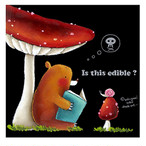 【おうちにいようキャンペーン30%off】チョークアートキット「キノコとクマさん」