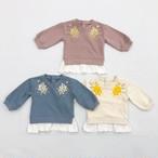 ミモザ刺繍トレーナー A21058-04