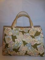 着物地和装バック Antiques fabric bag(made in Japan)(No8)