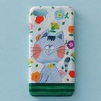 送料無料♪スマホケース スマホカバー/iPhone/Galaxy/Xperia/ほぼ全機種対応♪イラストが可愛い 【テーマ:猫 花】
