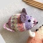 <編み図DL> 棒針編み・ネズミのあみぐるみ
