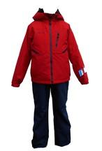 P8182P01 子供スキースーツ(ジャケット:レッド、パンツ:ネイビー)