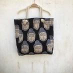 saruche 南インドのブロックプリント ブッダトート(マチ付き)