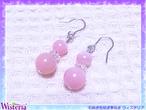 ピンクオパール×水晶 ピアス(イヤリング)