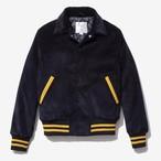 Corduroy Varsity Jacket(Dark Navy)