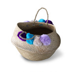 Seaglass Basket [ Wool Pom Pom]Φ400