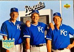 MLBカード 93UPPERDECK Wally Joyner & George Brettt & Gregg Jefferies #54 ROYALS TEAMMATE