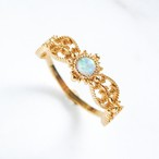 Lace opal ring