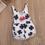 赤ちゃん タッセル ロンパース クローバー モノトーン 夏 夏服 ノースリーブ かわいい プール 部屋着 海外デザイン クローバー ANBO325
