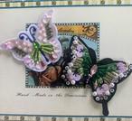 蝶々アップリケ
