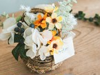 Mini Flower Basket_Smile Yellow◆Artificial