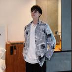 カジュアルデザインプリントスプリングジャケット 春コーデ ストリートファッション