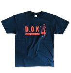 B.O.K T-shirt -navy & orange ver.-