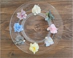 8種類のイヤリング.お花とコットンパールの揺れるイヤリング(ピアスや他も有ります)