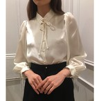 VB-092 (high neck belt blouse)