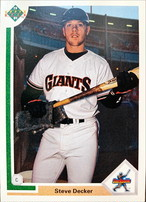 MLBカード 91UPPERDECK Stevet Decker #025 GIANTS STAR ROOKIE