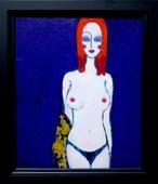 油彩画 | 秋っぽい女 R