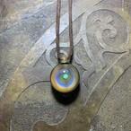 rainbow cosmo opal pendant