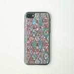 天然貝ケース★iPhone/Xperia/Galaxy スマホケース(パステルピンクモロッコタイル)螺鈿アート