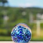 沖縄の思い出ペーパーウェイト(ラグーンブルー) 【琉球ガラス工房 雫】