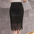 【ボトムス】ファッションレース透かし彫りタイトスカート