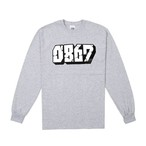 0867 / Long Sleeve T-Shirt / Blockbuster / Logo / Gray