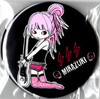MIKAZUKI / ミカヅキ BIG カンバッジ ギター 女子 ピンク[ BIG-7 ] 76mm