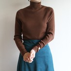 & DEAR 【womens】rib wholegarment turtle knit