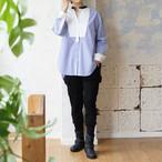 ブラックバンドカラー ストライプシャツ *リヨカ(Liyoca)