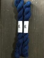 草木染め 刺し子糸 4本藍染