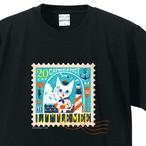 スタンプアニマル Little mee by 黒ねこ意匠 Tシャツ 黒