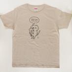 Tシャツ「だっこねこ」  ヘザーベージュ 送料無料中!