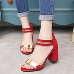 【shoes】サンダルチャンキーヒールファッション合わせやすい